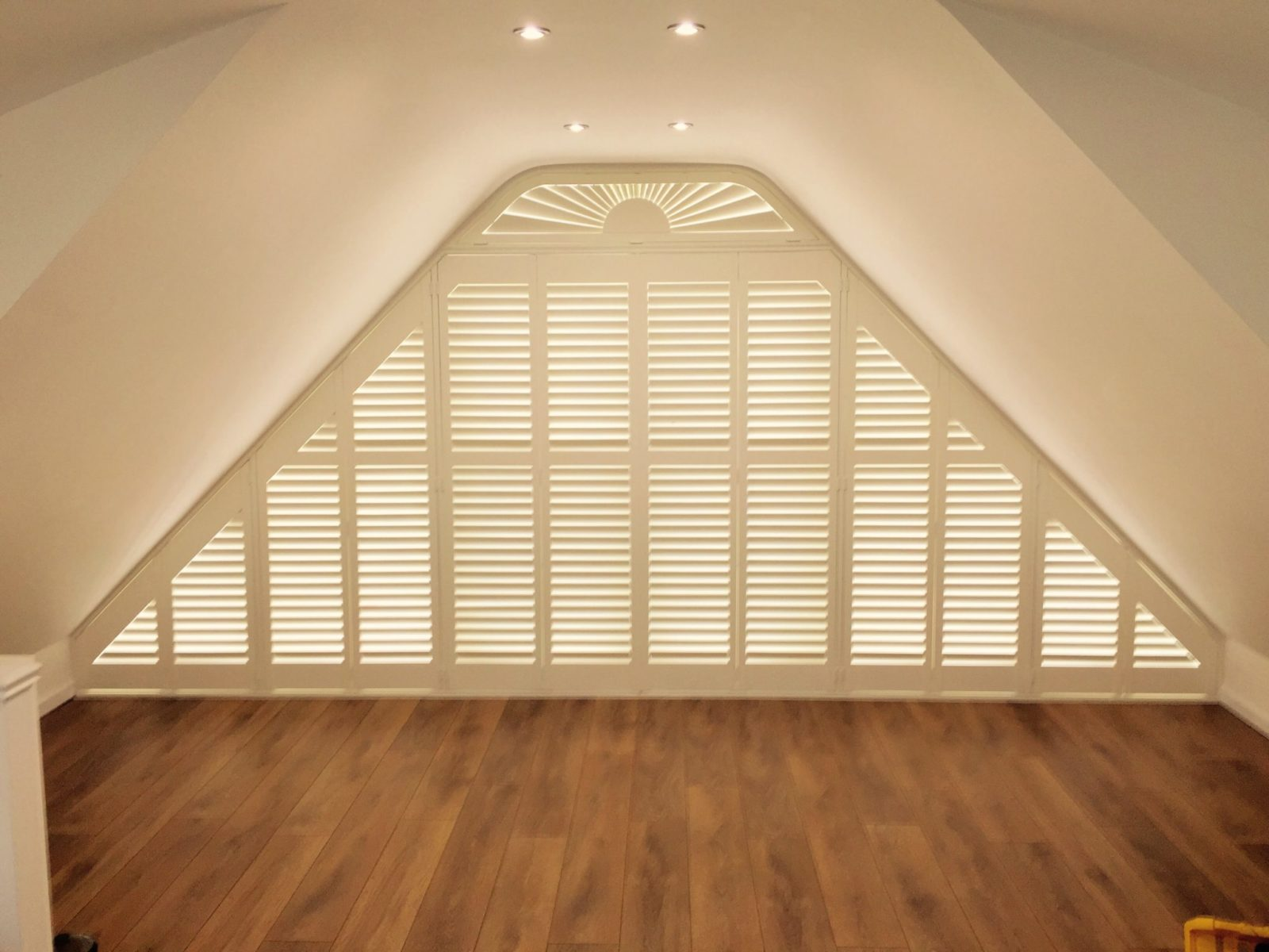 Triangle windows photos supplying wooden window shutters for - Cherry Tree Shutters Plantation Shutters In Portsmouth Gosport Fareham Southsea Southampton Hampshire